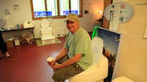 Ron Smolowitz at the  Cape Cod Eco-Toilet Center opening