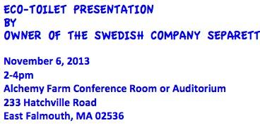 Separett ET presentation invitation